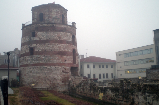 Roman tower and walls, Edirne