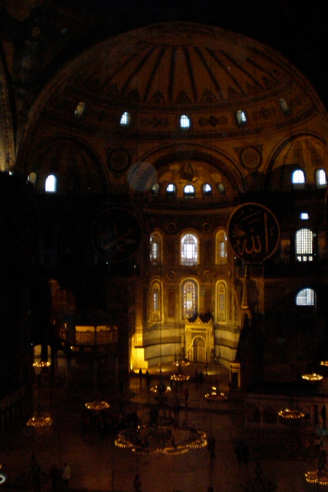 view from the gallery, Hagia Sophia, Istanbul