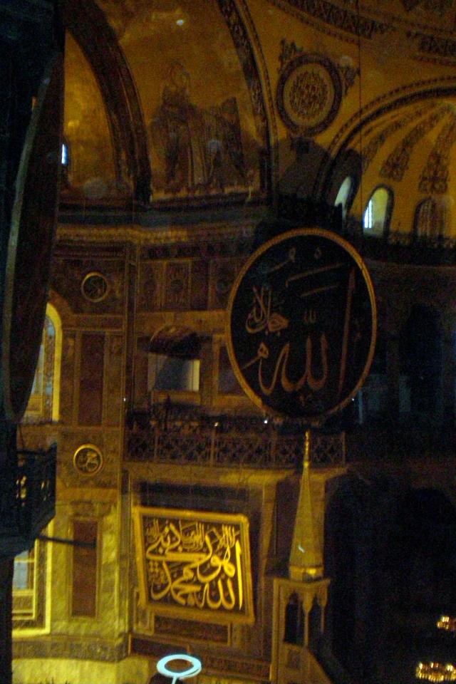 Christian and Islamic iconography, Hagia Sophia, Istanbul