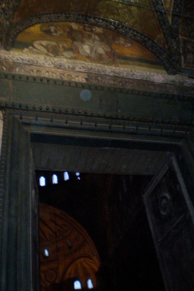 Imperial Gate mosaic, Hagia Sophia, Istanbul