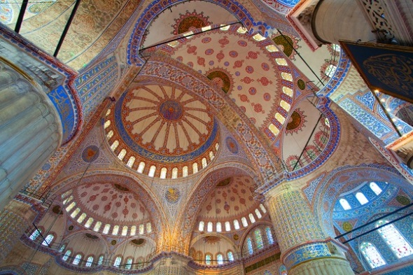ceiling of Blue Mosque, Istanbul